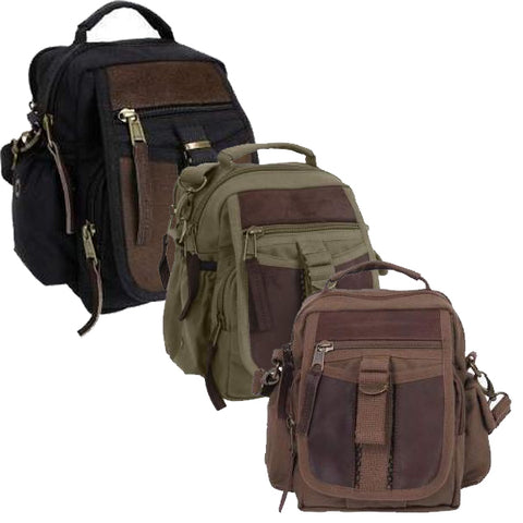 998ade4a88 Rothco Canvas   Leather Travel Shoulder Bag – Mad City Outdoor Gear