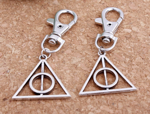 Harry Potter Deathly Hallows Metal Keychain
