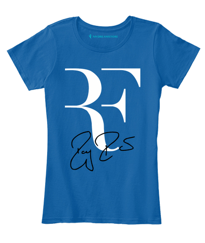 Roger Federed RF Signed Women's T-Shirt