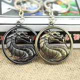 Mortal Kombat Dragon Logo Bronze Metal keychain