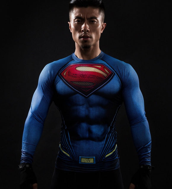 Superman (Full Sleeve) Superhero Unisex Compression Shirt Compression Shirt Buy top quality Superman (Full Sleeve) Superhero Unisex Compression Shirt Compression Shirt online in India at low price. get free shipping all across India Only at  Dot Aero
