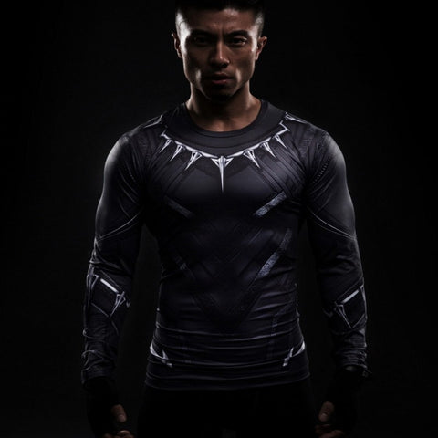 Black Panther (Full Sleeve) Superhero Unisex Compression Shirt Compression Shirt Buy top quality Black Panther (Full Sleeve) Superhero Unisex Compression Shirt Compression Shirt online in India at low price. get free shipping all across India Only at  Dot Aero