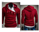 Cross Zipper Layered Collar Hoodie Hoodie Buy top quality Cross Zipper Layered Collar Hoodie Hoodie online in India at low price. get free shipping all across India Only at  Dot Aero