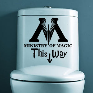 Ministry Of Magic Bathroom Wall Sticker