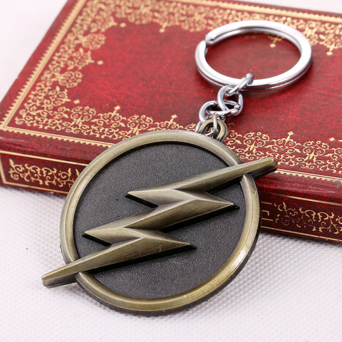 The Flash Logo Bronze Keychain
