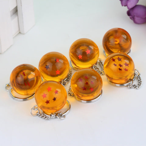 Dragon Ball Z Crystal Ball 1-7 Stars Keychains