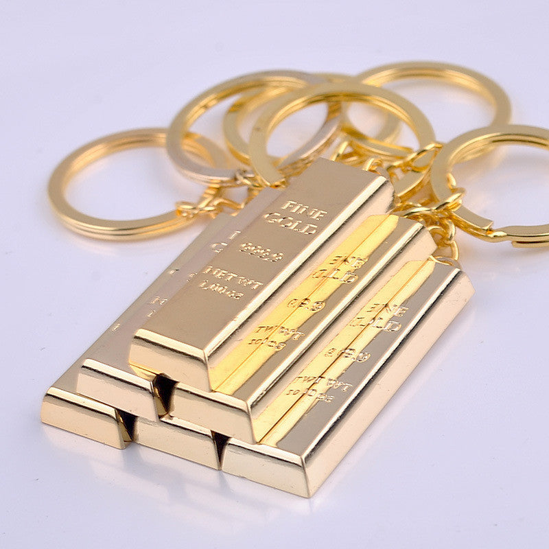 Pure Gold Brick/Biscuits/Bar Replica keychain
