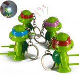 Teenage Mutant Ninja Turtles TMNT Action Figure Flash Light Keychain