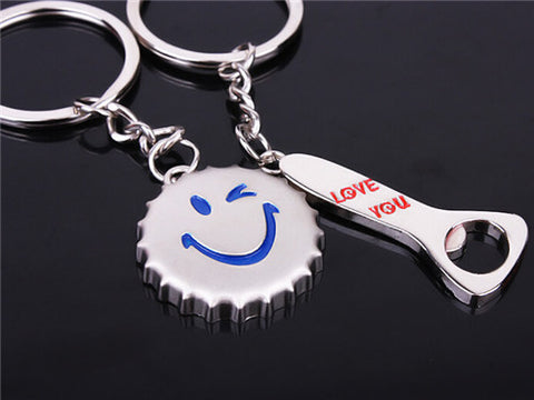 Cap-Bottle Opener Couple - Pairs Keychain Keychain Buy top quality Cap-Bottle Opener Couple - Pairs Keychain Keychain online in India at low price. get free shipping all across India Only at  Dot Aero