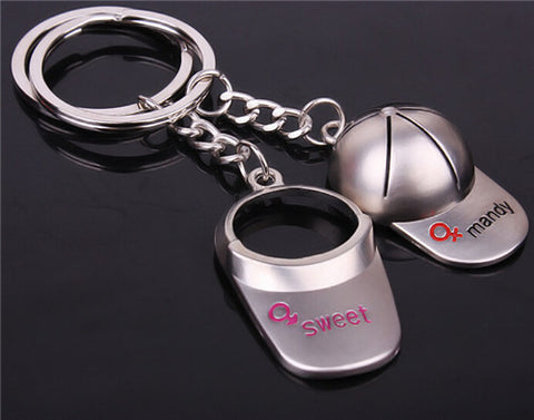 Caps Couple - Pairs Keychain Keychain Buy top quality Caps Couple - Pairs Keychain Keychain online in India at low price. get free shipping all across India Only at  Dot Aero