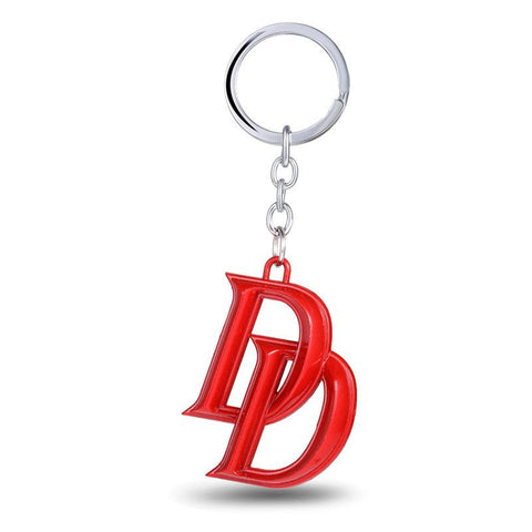 The Marvel Daredevil Double D Red Metal Keychain