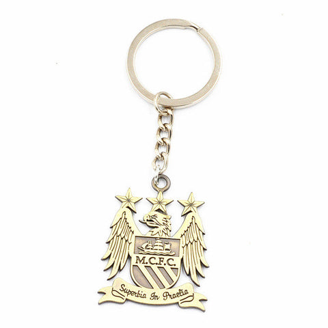 Manchester City MCFC Football Club Logo Metal keychain