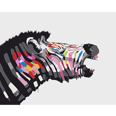 Zebra Abstract Animal Painting By Numbers Kit
