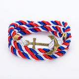Rope Anchor Charm Bracelet (19 Colours)