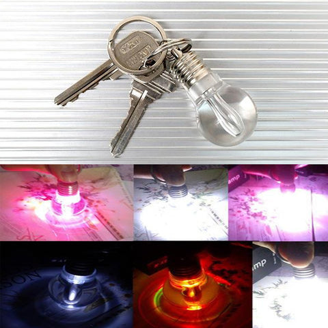 LED Light Lamp Bulb Keychain