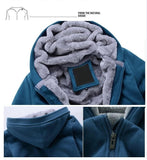 Windbreaker Thick Wool Men's Warm Winter Hoodie