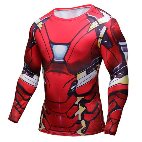Iron Man (Full Sleeve) Superhero Unisex Compression Shirt