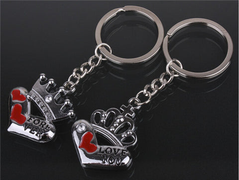 King & Queen Hearts Couple - Pairs Keychain Keychain Buy top quality King & Queen Hearts Couple - Pairs Keychain Keychain online in India at low price. get free shipping all across India Only at  Dot Aero