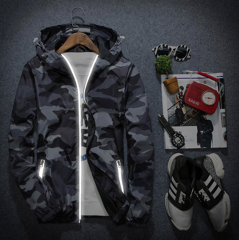 Aero Camouflage Waterproof Windbreaker Jacket