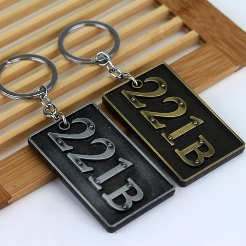 Sherlock Holmes 221B Metal Keychain Keychain Buy top quality Sherlock Holmes 221B Metal Keychain Keychain online in India at low price. get free shipping all across India Only at  Dot Aero