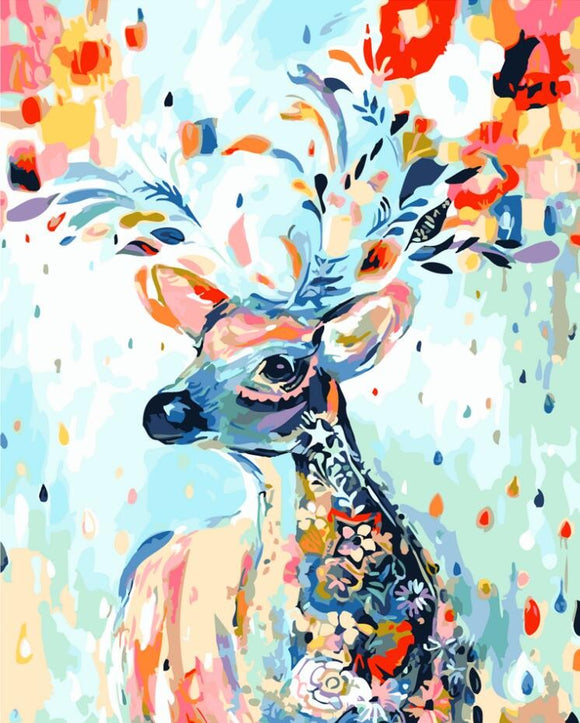 Abstract Deer Paint By Numbers Kit