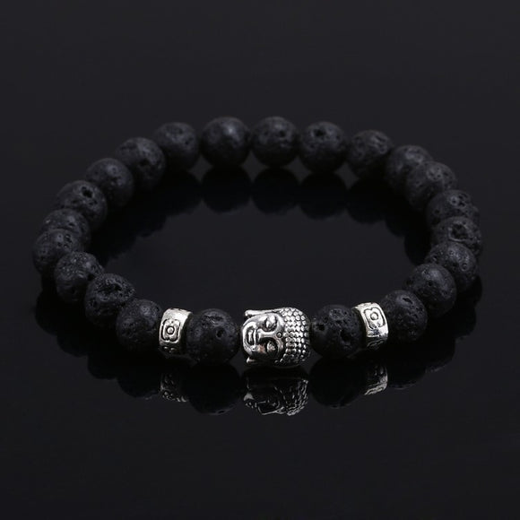 Buddha Natural Stone Beads Bracelet (5 Colors)