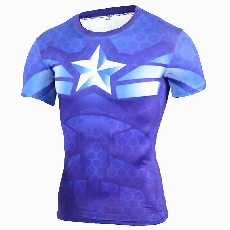 Captain America Compression Shirt Compression Shirt Buy top quality Captain America Compression Shirt Compression Shirt online in India at low price. get free shipping all across India Only at  Dot Aero