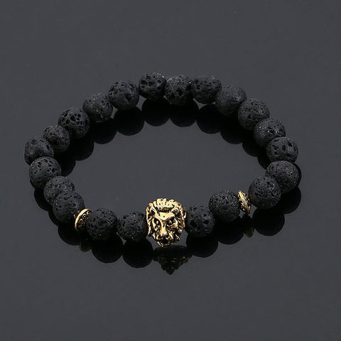 Lion Natural Stone Beads Bracelet (4 Colors) Bracelet Buy top quality Lion Natural Stone Beads Bracelet (4 Colors) Bracelet online in India at low price. get free shipping all across India Only at  Dot Aero
