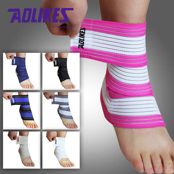 High Quality Ankle Support Spirally Wound Bandage Adjustable Elastic Bands (1pcs)