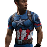Captain America Superhero Unisex Compression Shirt Compression Shirt Buy top quality Captain America Superhero Unisex Compression Shirt Compression Shirt online in India at low price. get free shipping all across India Only at  Dot Aero