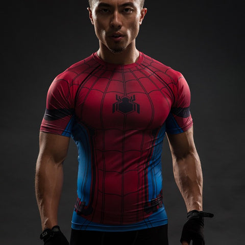 Spiderman Superhero Unisex Compression Shirt