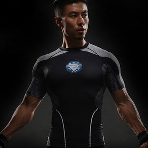 Iron Man Superhero Unisex Compression Shirt Compression Shirt Buy top quality Iron Man Superhero Unisex Compression Shirt Compression Shirt online in India at low price. get free shipping all across India Only at  Dot Aero