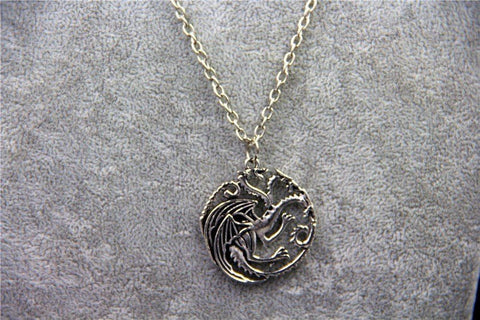 Targaryen Dragon Badge Necklace (Silver) Necklace Buy top quality Targaryen Dragon Badge Necklace (Silver) Necklace online in India at low price. get free shipping all across India Only at  Dot Aero