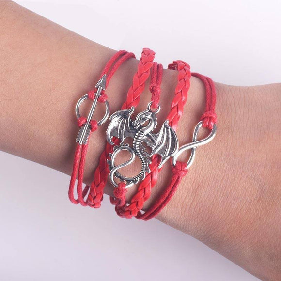 Dragon Leather Bracelet (Red) Bracelet Buy top quality Dragon Leather Bracelet (Red) Bracelet online in India at low price. get free shipping all across India Only at  Dot Aero