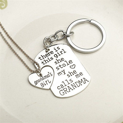 Grandma's Girl Keychain & Necklace Keychain Buy top quality Grandma's Girl Keychain & Necklace Keychain online in India at low price. get free shipping all across India Only at  Dot Aero