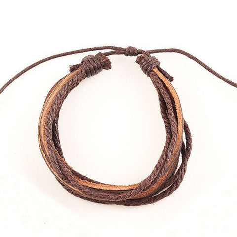 Hand-Woven Multi-layer Leather Braided Rope Wristband Bracelet Bracelet Buy top quality Hand-Woven Multi-layer Leather Braided Rope Wristband Bracelet Bracelet online in India at low price. get free shipping all across India Only at  Dot Aero