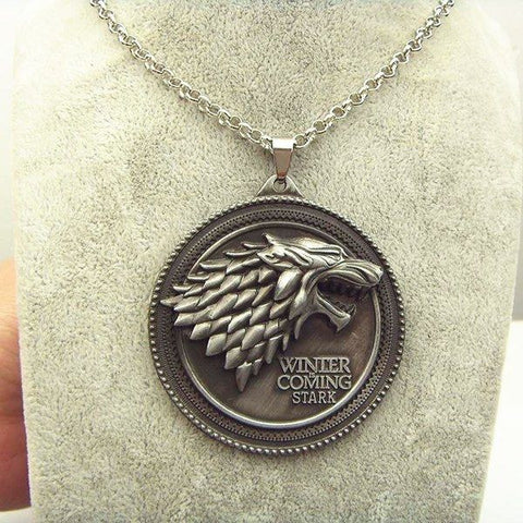 House Stark Necklace (Ancient Silver) Necklace Buy top quality House Stark Necklace (Ancient Silver) Necklace online in India at low price. get free shipping all across India Only at  Dot Aero