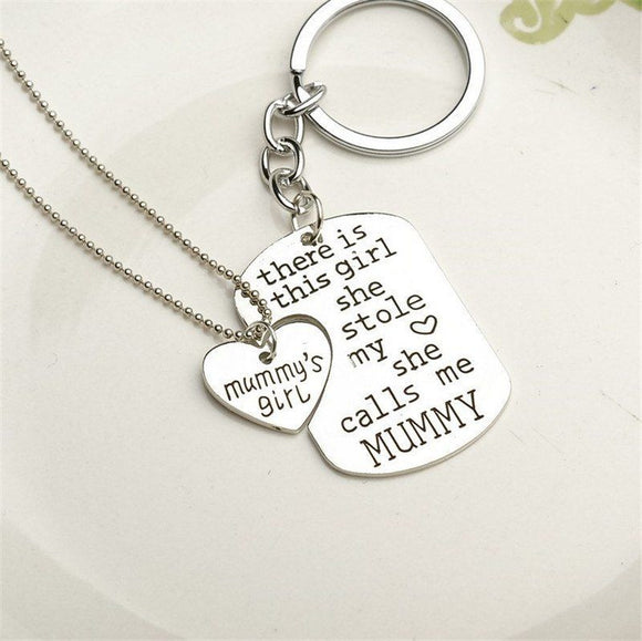 Mummy's Girl Keychain Necklace Keychain Buy top quality Mummy's Girl Keychain Necklace Keychain online in India at low price. get free shipping all across India Only at  Dot Aero