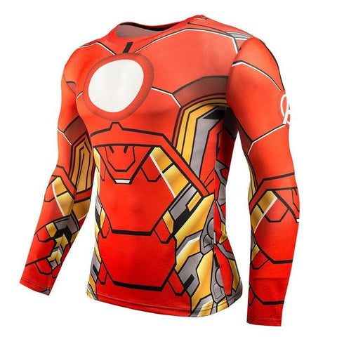 Iron Man Compression Shirt T-Shirt Buy top quality Iron Man Compression Shirt T-Shirt online in India at low price. get free shipping all across India Only at  Dot Aero