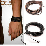 Black/Brown Braided Rope Bracelet Wristband ( 2 Variants ) Bracelet Buy top quality Black/Brown Braided Rope Bracelet Wristband ( 2 Variants ) Bracelet online in India at low price. get free shipping all across India Only at  Dot Aero