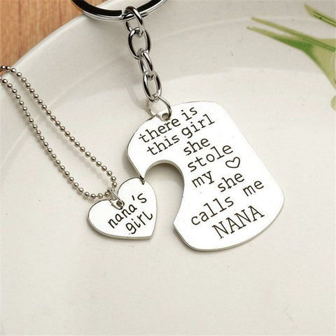 Nana's Girl Keychain Necklace Keychain Buy top quality Nana's Girl Keychain Necklace Keychain online in India at low price. get free shipping all across India Only at  Dot Aero