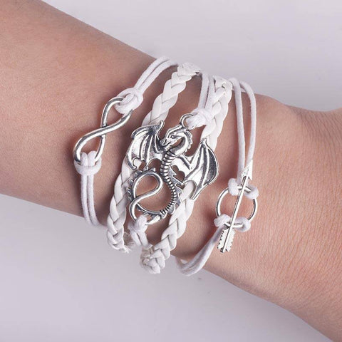 Dragon Leather Bracelet (Light) Bracelet Buy top quality Dragon Leather Bracelet (Light) Bracelet online in India at low price. get free shipping all across India Only at  Dot Aero