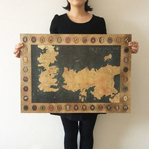 Westeros Map Wall Art Poster Wall Art Buy top quality Westeros Map Wall Art Poster Wall Art online in India at low price. get free shipping all across India Only at  Dot Aero