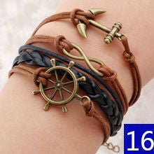 Vintage Braided Anchors/Love Rudder Bracelets ( 16 Variants )