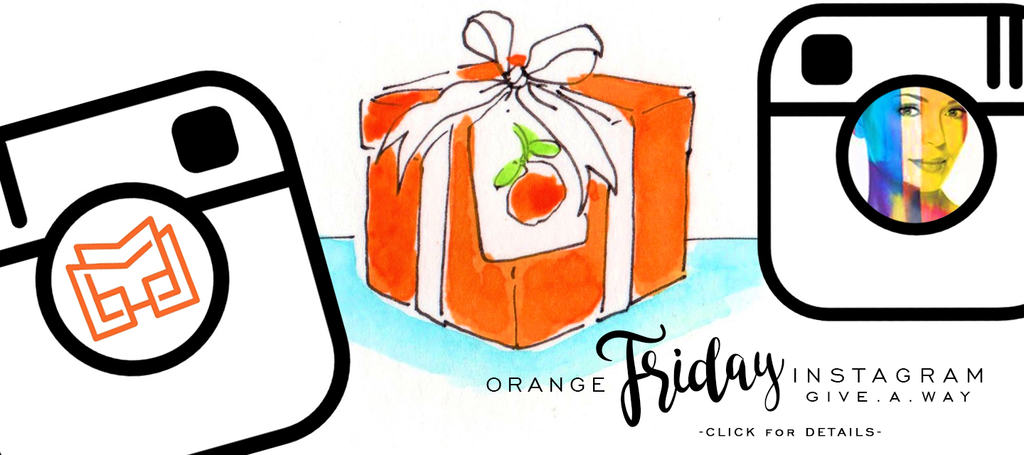 Orange Friday | Give-A-Way with Dr Clark + Lettermade
