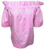 Pink Gingham Derby Top