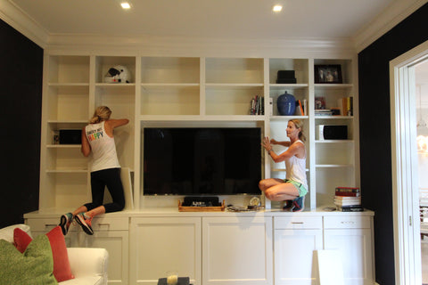 Grove girls bookcase install