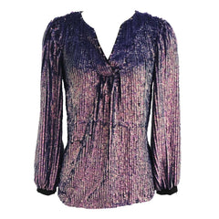 Sequin V-Neck Top