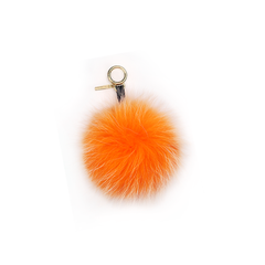 Orange Fur Pom Pom