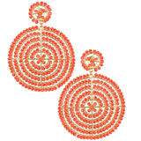 Orange Disk Earrings